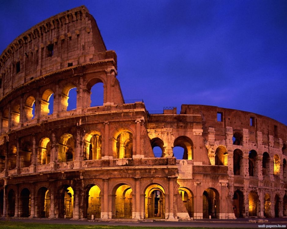 Фото бесплатно колізей, ніч, темно, рим, італія, старовина, город, пейзажи, пейзажи
