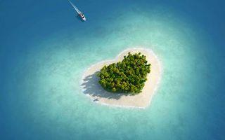 Фото бесплатно остров, влюбленных, сердечка