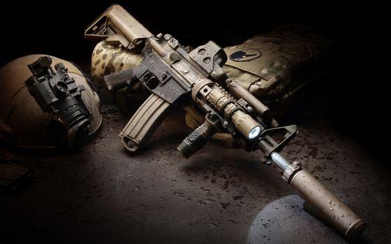 Photo free automatic, gun, barrel