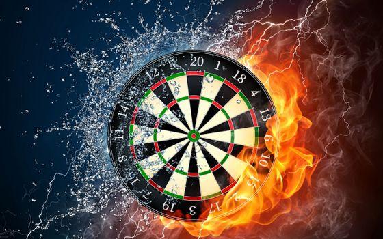 Photo free darts, target, circles