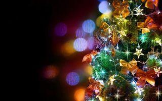 Фото бесплатно елка, новогодняя, украшения