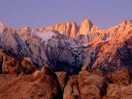 Заставки горы, камни, пик