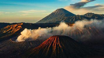 Фото бесплатно горы, вулканы, жерло