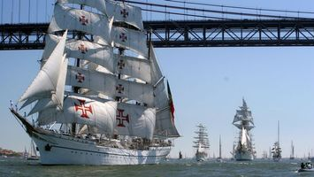 Бесплатные фото корабли,паруса,море,небо,голубое,волны,разное