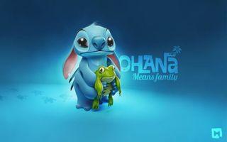 Бесплатные фото lilo and stitch,мультик,герои,заставка,обои,фон,голубой