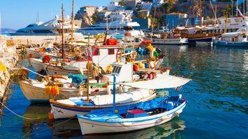 Photo free sea, jetty, boats