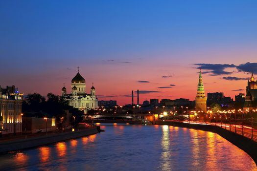 Фото бесплатно москва, река, вечер