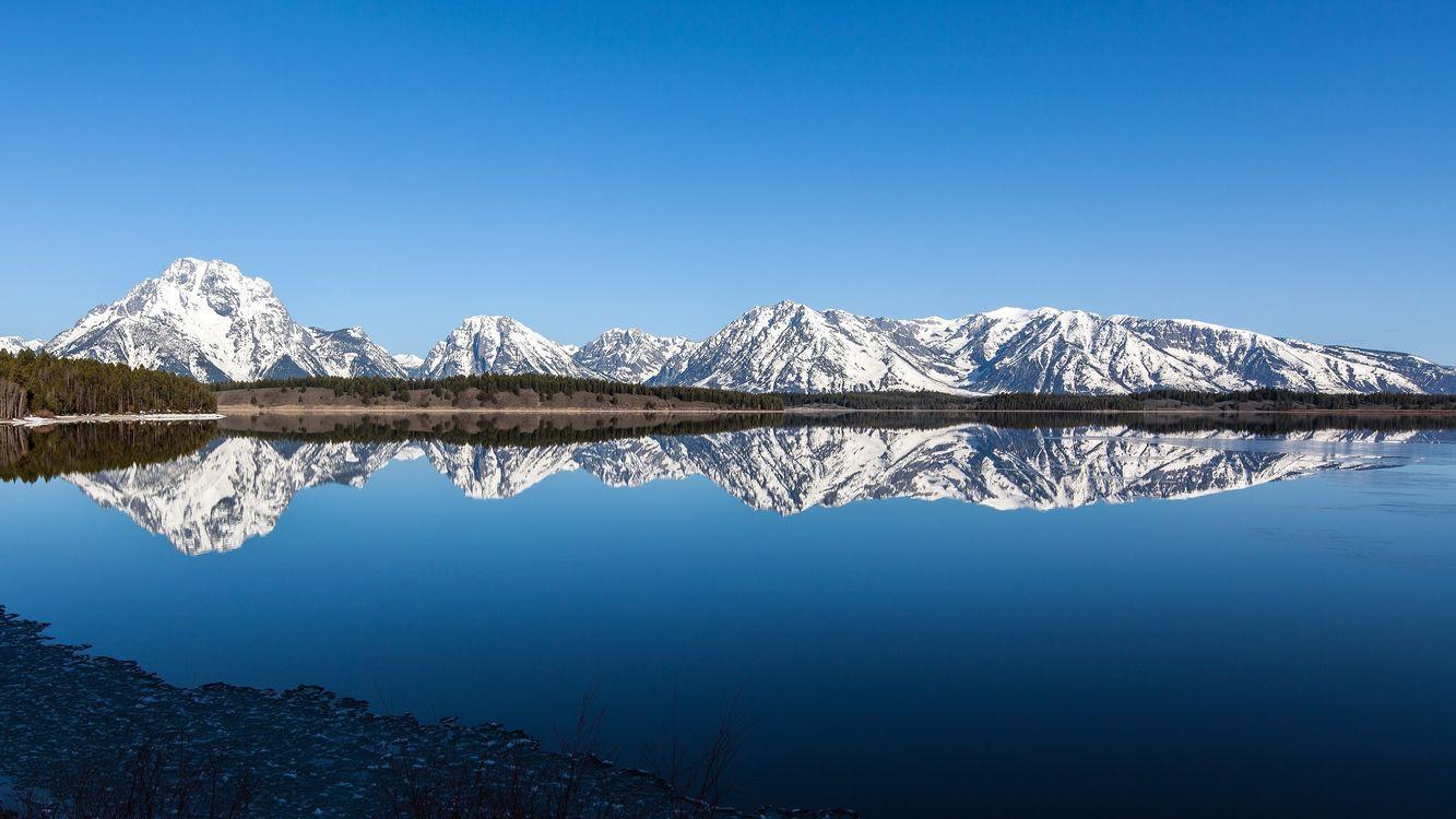 Фото бесплатно берег, отражение, горы - на рабочий стол