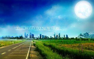 Бесплатные фото рельсы,трава,луна,небо,дорога,зелень,горы