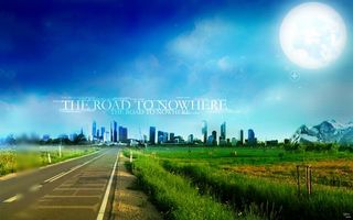 Фото бесплатно рельсы, трава, луна