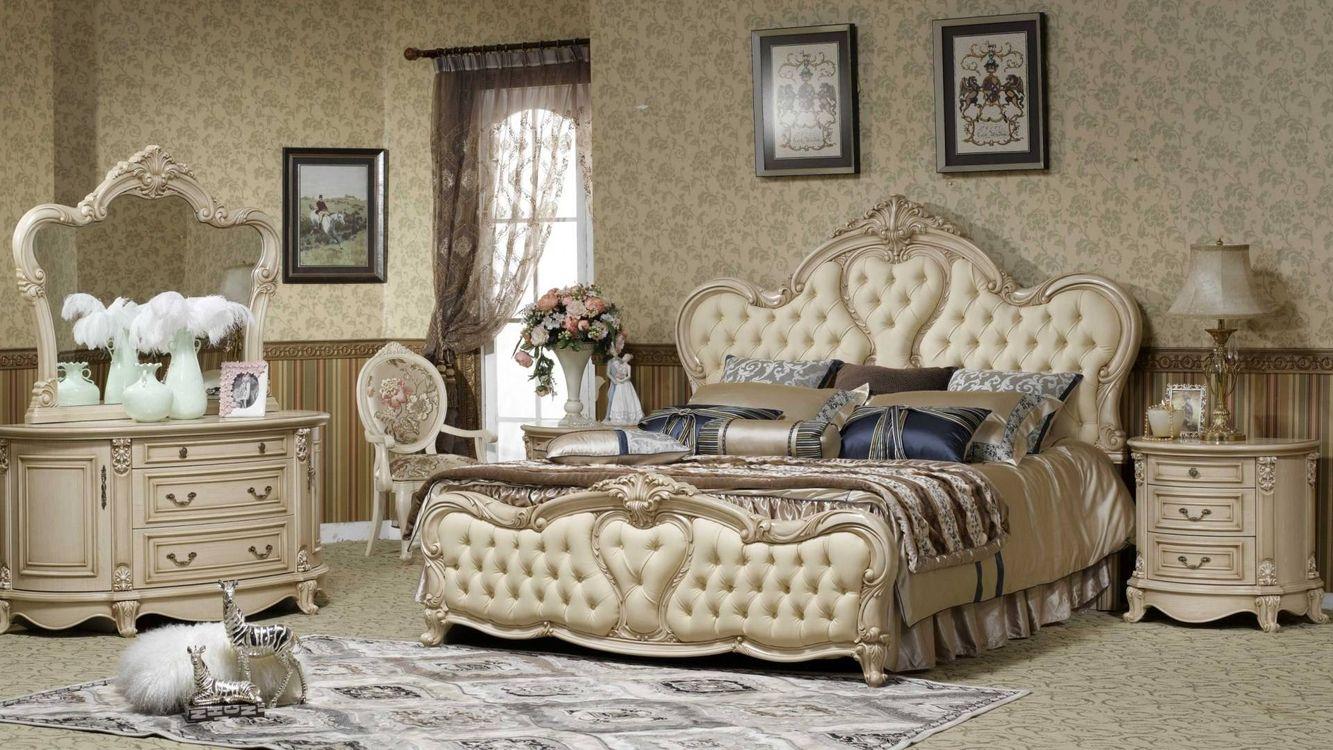 Фото бесплатно роскошь, спальня, зеркало - на рабочий стол