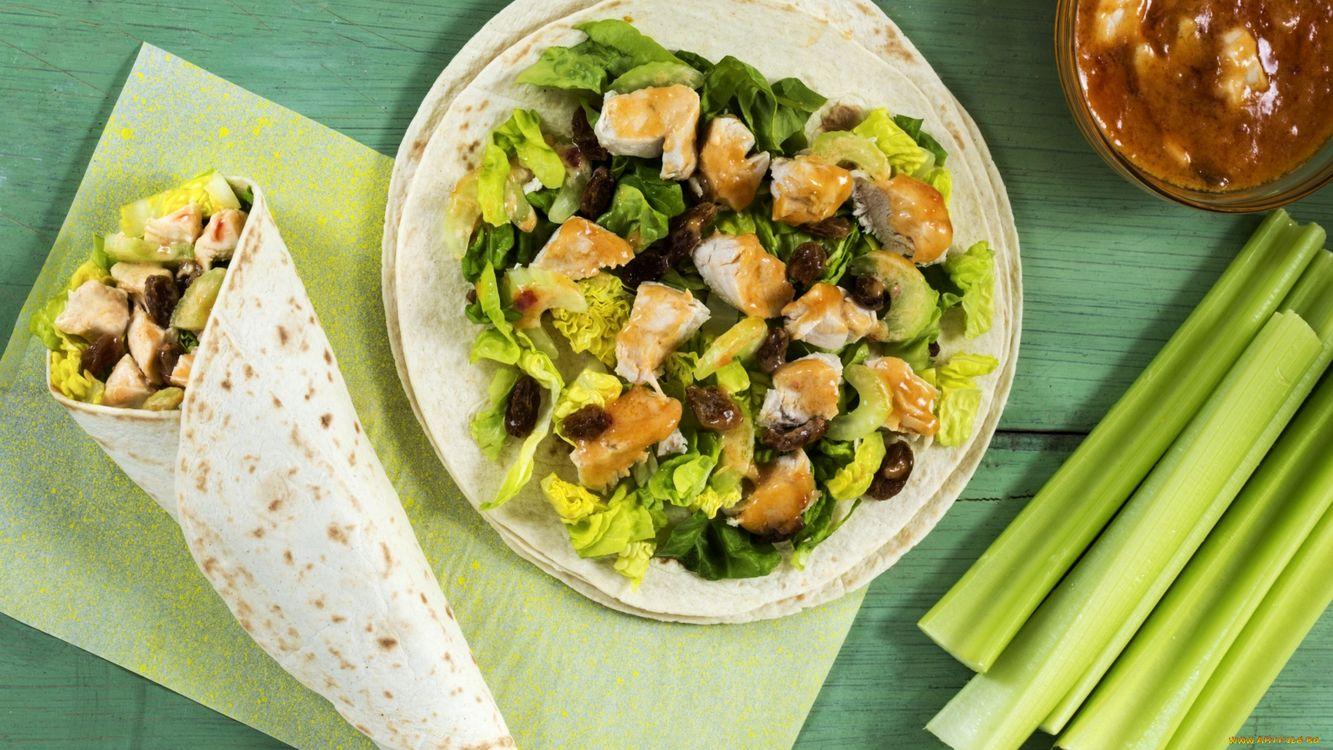 Фото бесплатно салат, зелень, тарелка - на рабочий стол