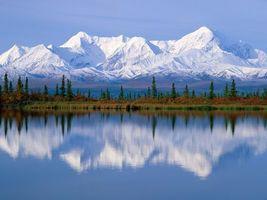Бесплатные фото вода,горы,снег,лес,деревья,небо,природа