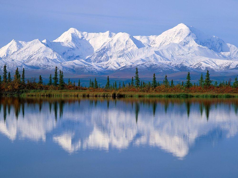 Фото бесплатно вода, горы, снег, лес, деревья, небо, природа, природа