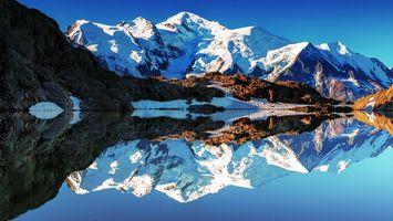 Бесплатные фото вода,озеро,горы,снег,небо,голубое,природа