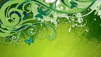 Бесплатные фото волны,узор,рисунок,бабочки,цвет,зеленый,салатовый