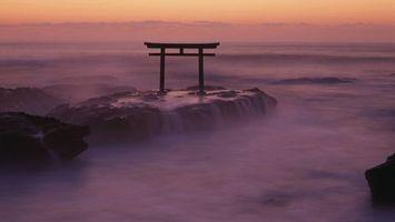 Бесплатные фото постройка,рифы,море,океан,вечер,волны,разное