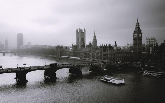 Фото бесплатно туман, london, лондон