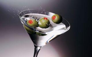 Фото бесплатно бокал, стекло, мартини