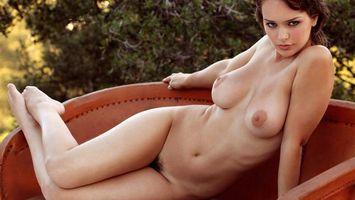 Бесплатные фото девушка,обнаженная,груди,соски,живот,ноги,диван