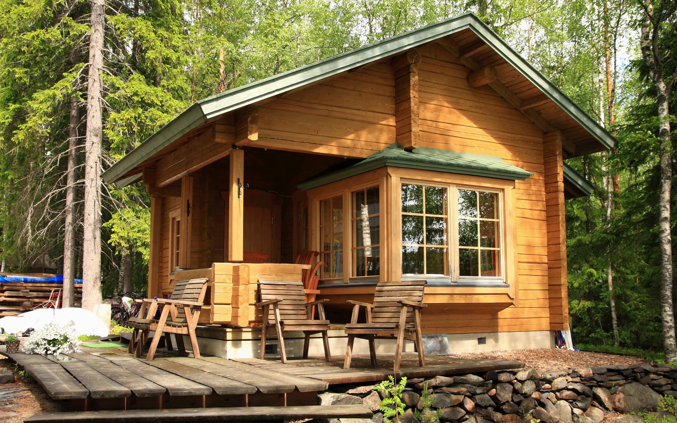 Маленькие деревянные дома фото