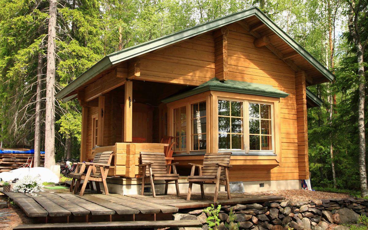 Фото бесплатно дом, загородний, деревянный - на рабочий стол