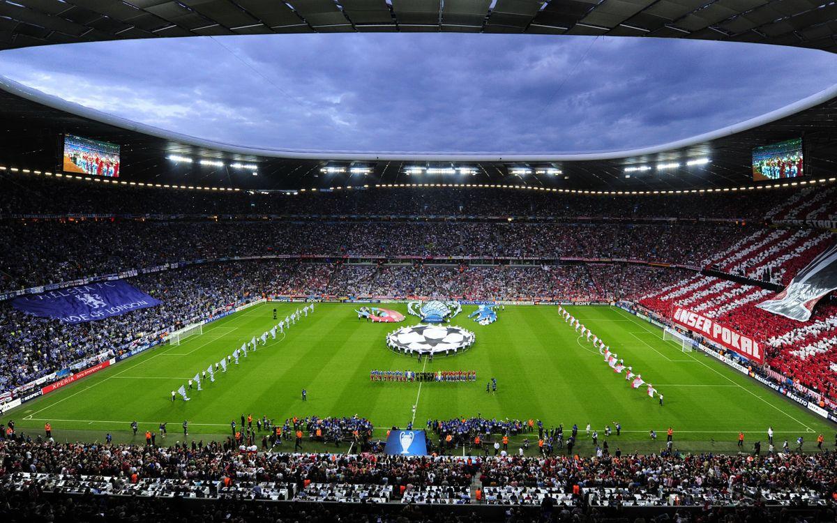 Фото бесплатно футбол, стадион, трибуны, зрители, болельщики, начало, матча, спорт, спорт