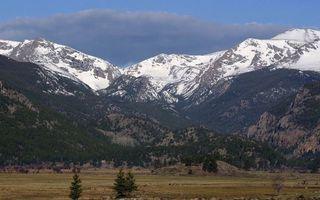 Заставки горы,снег,мороз,холод,деревья,елки,сосны