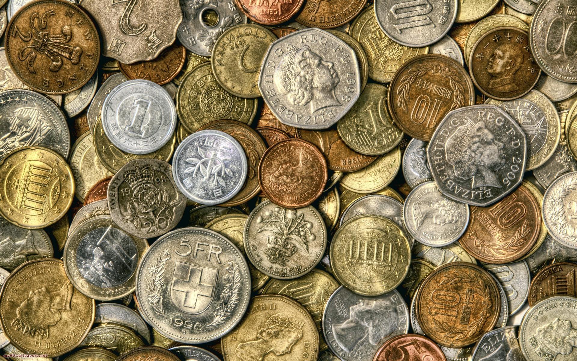 Обои коллекция, монет, старые, разных