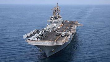 Бесплатные фото корабль, военный, большой, самолеты, вода, небо, оружие