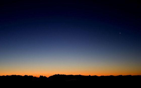 Фото бесплатно закат, звезды, небо