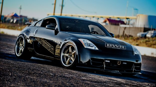 Photo free Nissan 350z, black, tuning