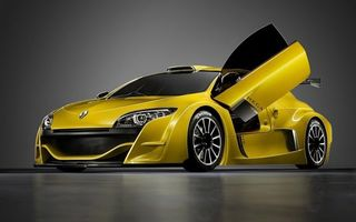 Обои renault, жёлтый, показ, машины