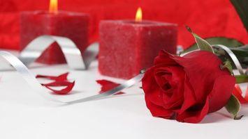 Фото бесплатно красный, свеча, огонь