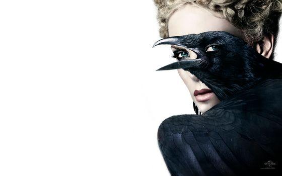 Заставки ворона, глаза, черная
