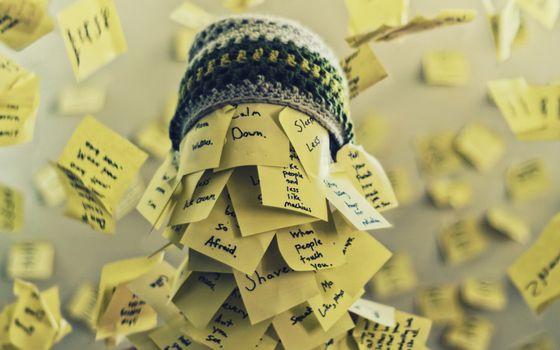 Бесплатные фото записи,слова,пометки,стикеры,шапка,вязание,нитки,разное
