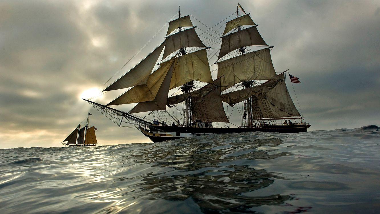 Фото бесплатно судно, старое, древнее, океан, паруса, разное, разное