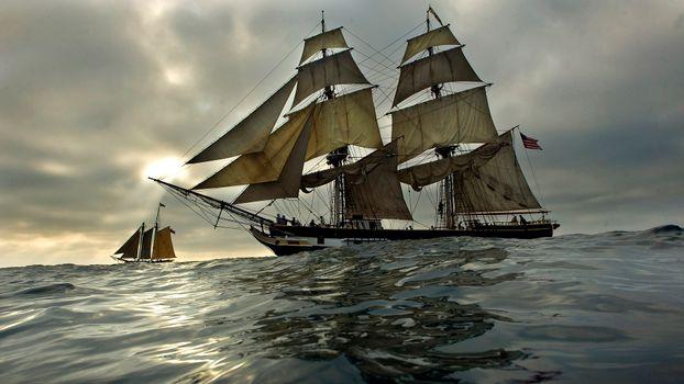 Фото бесплатно судно, старое, древнее, океан, паруса, разное