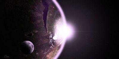 Бесплатные фото новые миры,3d графика,планеты,восход солнца,космос,фантастика