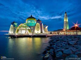 Фото бесплатно храм, берег, море