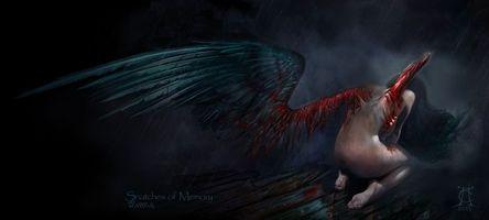 Бесплатные фото snatches of memory,ангел,крылья,дождь,кровь,patriarch