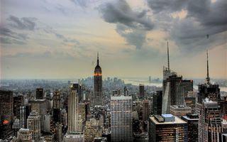 Photo free houses, high-rise buildings, windows