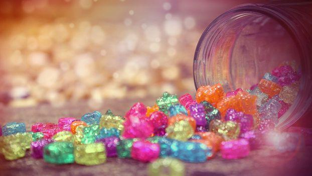 Фото бесплатно конфеты, банка, сладости