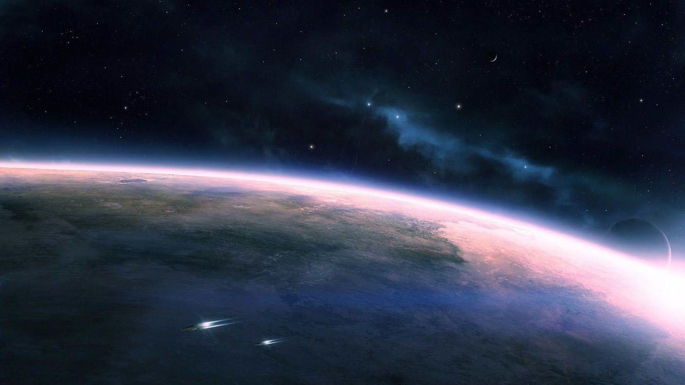 Фото бесплатно космос, планеты, космические, корабли, звезды, невесомость, фантастика, фантастика - скачать на рабочий стол