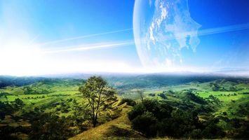 Фото бесплатно небо, солнце, холмы
