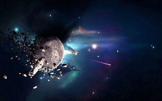 Фото бесплатно планета, звезды, невесомость, вакуум, метеориты, комета, космос
