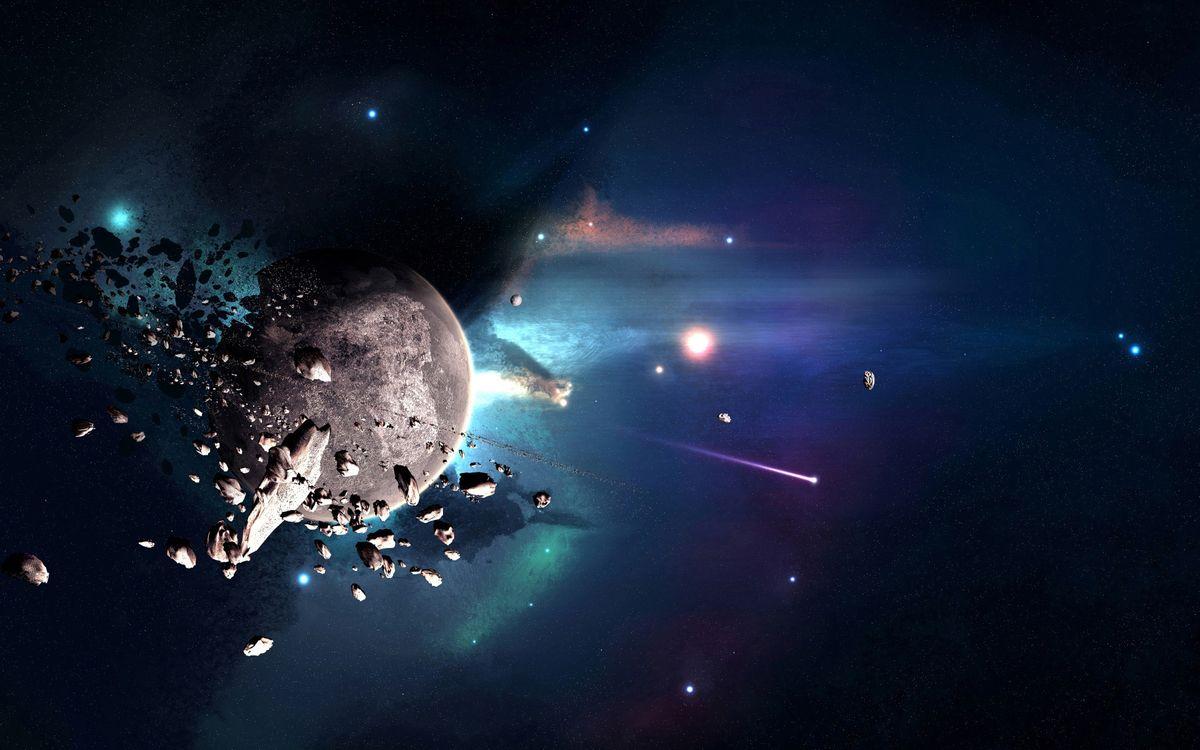 Фото бесплатно планета, звезды, невесомость - на рабочий стол