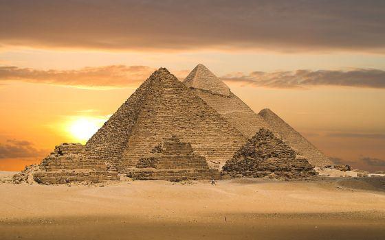 Фото бесплатно пустыня, песок, пирамиды