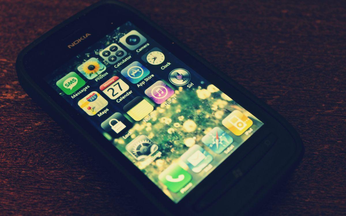 Фото бесплатно телефон, меню, корпус, экран, стол, разное, разное