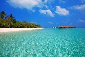 Фото бесплатно пейзажи, море, бунгало